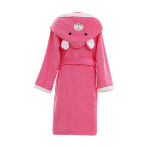 Children Cotton Bathrobe Soft Swim Bath Gown Robes Pajamas with Hat-A01