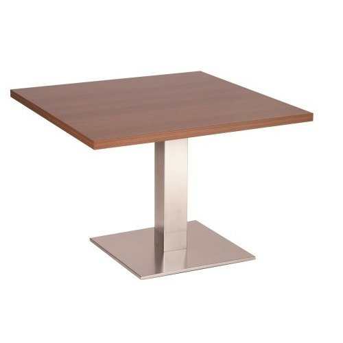 Daniella Coffee Table Stainless Steel Base with Various Size and Colour Tops White Round 600 Square (+10)