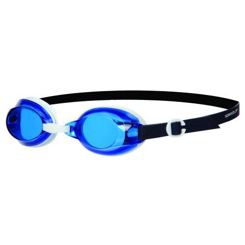 Speedo Jet Senior Unisex Adults UV Anti Fog Swimming Goggles - White/Blue