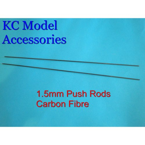 1.5mm Push Rods Carbon Fibre x 2 pieces 250mm Long Each