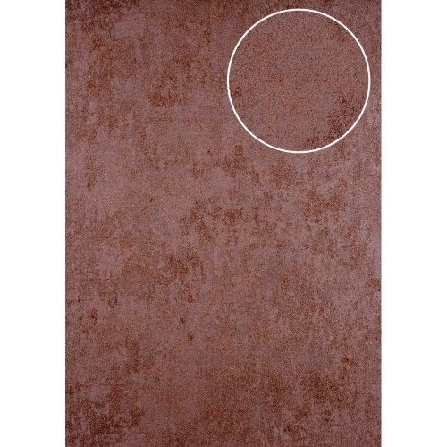 ATLAS HER-5141-5 Plaster look wallpaper shimmering brown brown red 7.035 sqm