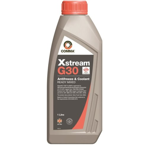 Xstream G30 Antifreeze & Coolant - Ready To Use - 1 Litre