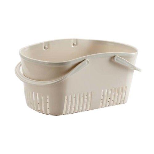 Bath Storage Basket Plastic Storage Basket with Handles #4