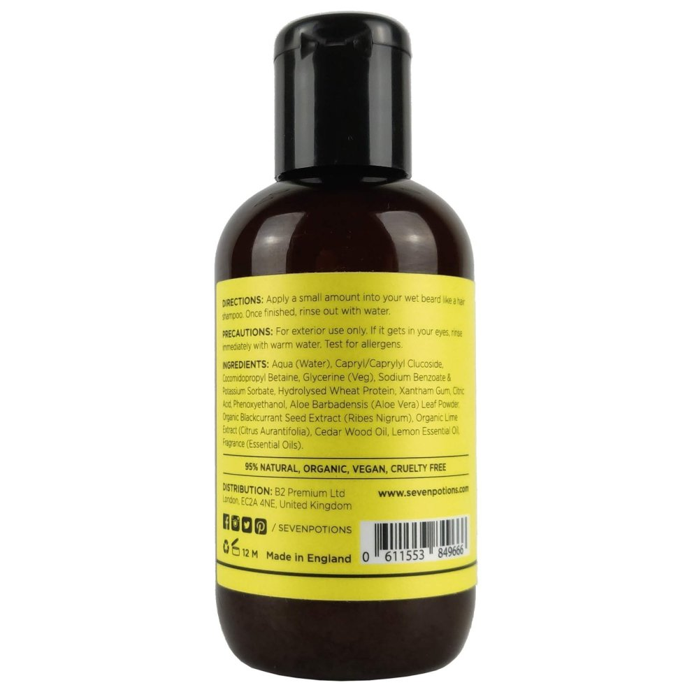 Beard Shampoo for Men 100 ml Natural, Vegan, Cruelty Free  Make Your Beard  Softer And Cleaner With The Best Beard Wash  Conditions Deeply  Soft