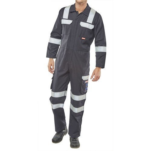 """Click CARC6N38 ARC Compliant Flame Retardant Navy Blue Coverall 38"""""""