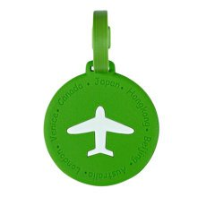 Circle Business Name Tag/ID Holder Luggage Tag Boarding Pass Cover-Green