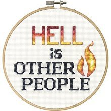 Dimensions Needlecrafts 70-74641 Say It Counted Cross Stitch Kit, Hell - Kit6 -  say hell counted cross stitch kit6 round 14