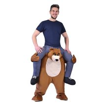 Adults Bear Piggy Back - FANCY DRESS COSTUME PIGGY BACK RIDE ON NOVELTY TEDDY BEAR MASCOT