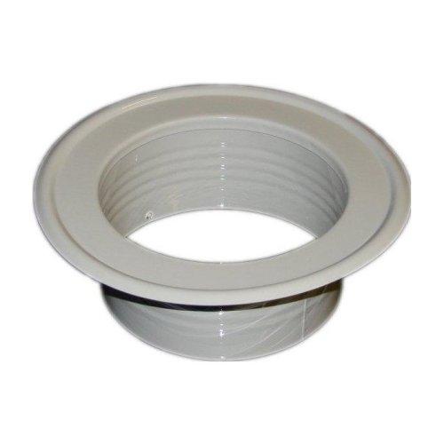Metal Ventilation Ducting Pipe Wall Plate Spigot White 80-200mm Diameter