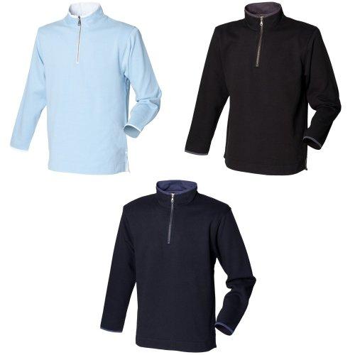 Front Row Mens Soft Touch 1/4 Zip Sweatshirt Top
