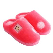 Family Winter Warm & Cozy  Indoor Shoes Child House Slipper, Red