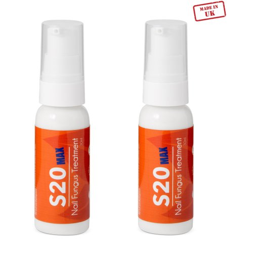 2x S20 MAX Nail Fungus Treatment | Antifungal Nail Treatment Cream