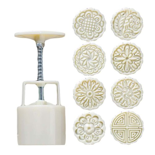 8 Stamps - Plastic Baking Molds - Moon Cake Mold Small Cake Mold – 75G