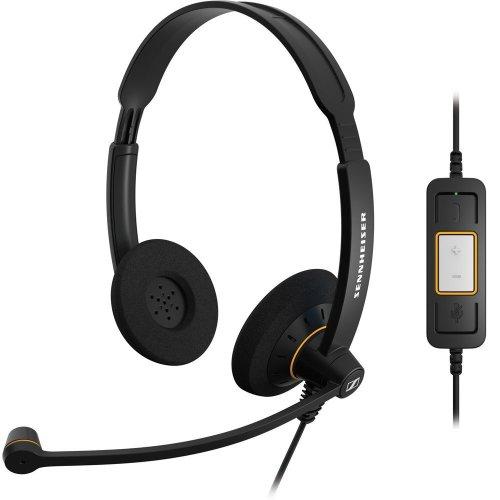 Sennheiser SC60 USB Binaural Microsoft Lync Headset - Black