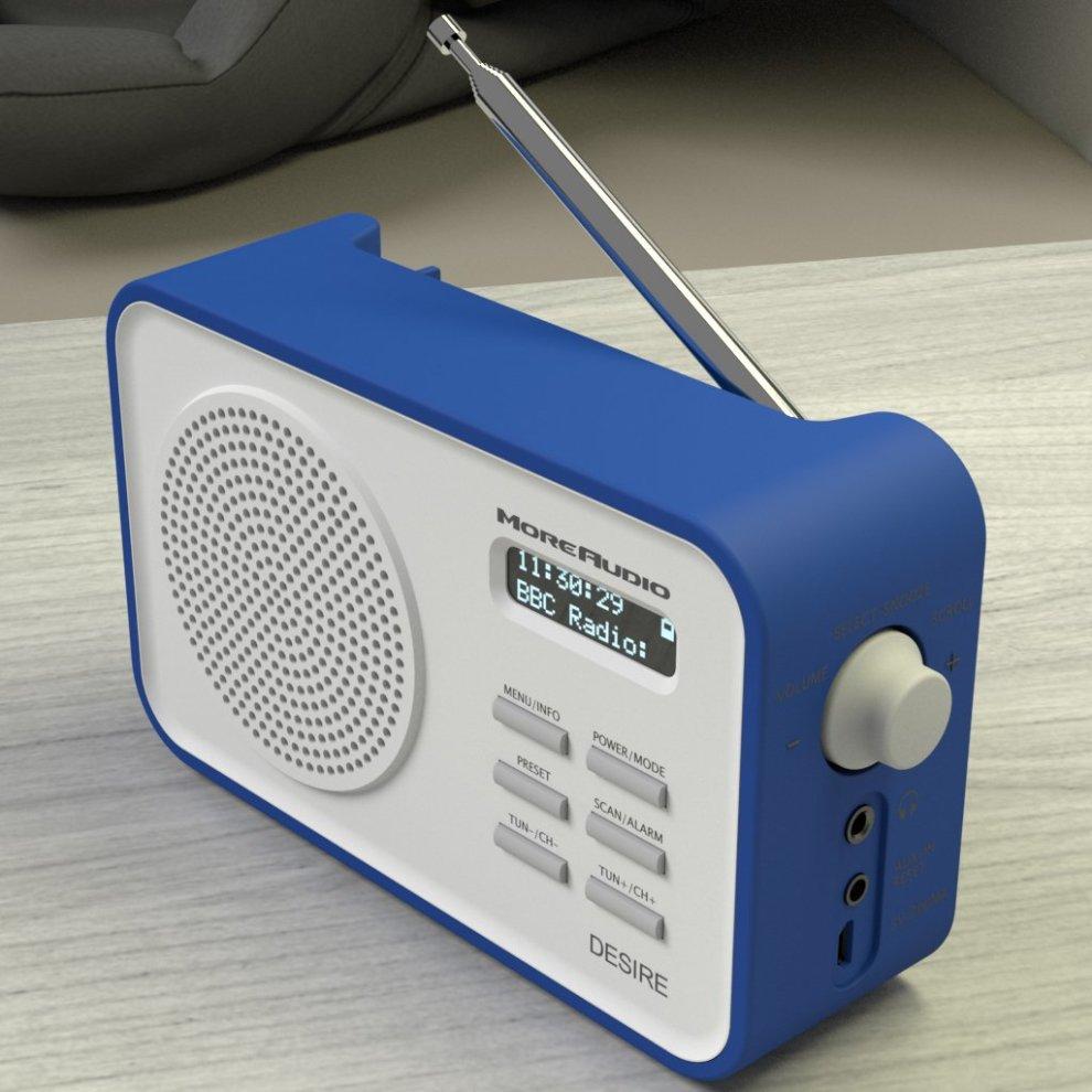 23d87a05d667 ... MoreAudio Desire DAB Digital FM Radio Alarm Clock - Portable -  Rechargable battery - Timer ...