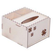 DIY Wooden Cosmetics Storage Box/tissue box/Stationery Holder,Light Yellow
