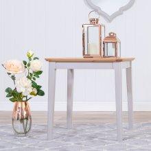 Malvern Shaker Grey Painted Oak Large Side Table