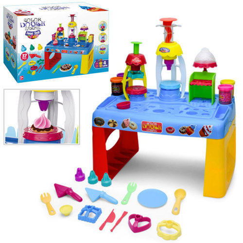 37 Pieces Kids Play Dough Table House