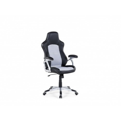 Office chair - Computer chair - Swivel - Synthetic leather - Black and Grey - EXPLORER