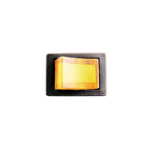 On/Off Mini Rocker Switch - Amber Illuminated