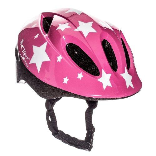 Sport Direct Pink Stars Children's Girls Bicycle Helmet Pink 48-52cm CE EN1078:2012+A1:2012