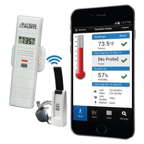La Crosse Technology 926-25100-WGB Temperature & Humidity Monitor & Alert System