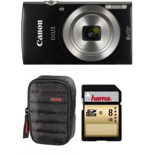 Canon IXUS 185 Black Digital Camera - Bundle