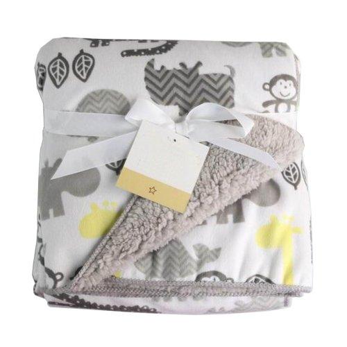 [Gray Monkey] Multifunction Soft Velvet Warm Blanket/Throw for Baby