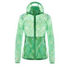 Outdoor Waterproof Sun Protective Clothing Cycling Climbing Long Sleeve Shirts Raincoat-Green
