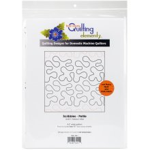 """Quilting Creations Printed Tear Away Quilting Paper 4/Pkg-Scribbles-Petite 4.5"""""""