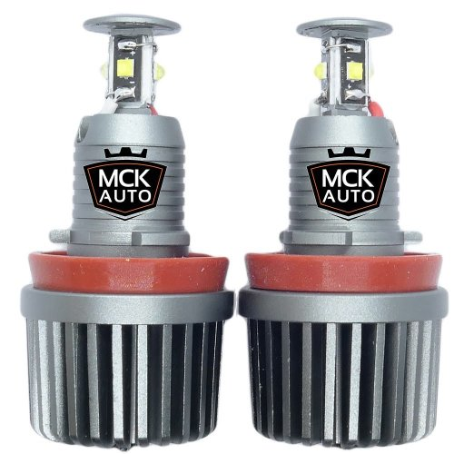 MCK Auto Simple Swap from Yellow color to Modern Bright White Angel Eyes H8 80W CREE LED Marker Halo Light E82 E92 E60 E61 E63 E89 X6 BC2R
