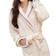 Casual Pajama Set Warm Sleepwear Women/Lovers Flannel Nightgown X-large-A1