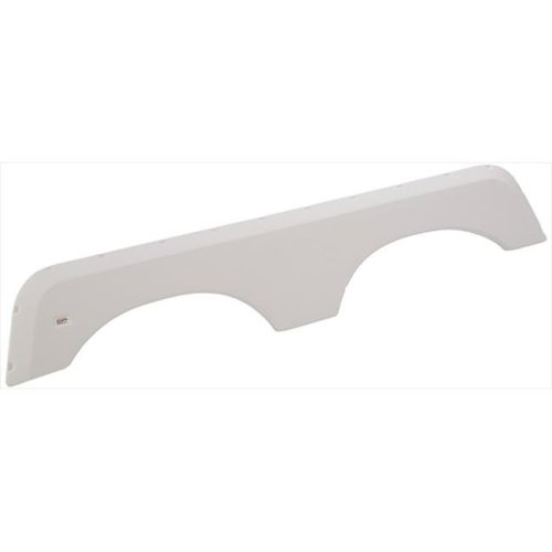 1424 Polar White Tandem Fender Skirt