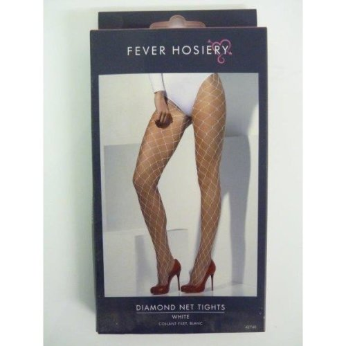 Adult's White Diamond Net Tights -  fancy dress white diamond net tights ladies accessory costume new sexy smiffys