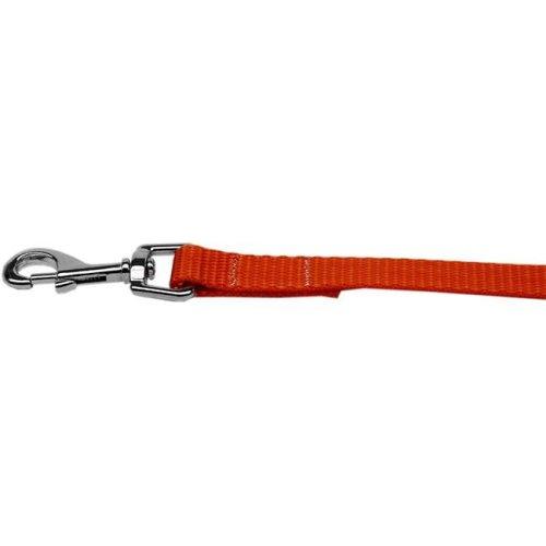 Mirage Pet 124-1 OR5804 Plain Nylon Pet Leash, Orange - 0.62 in. by 4 ft.