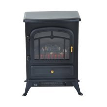 Homcom Freestanding Electric Fireplace | Log Burning Effect Heater 1850w