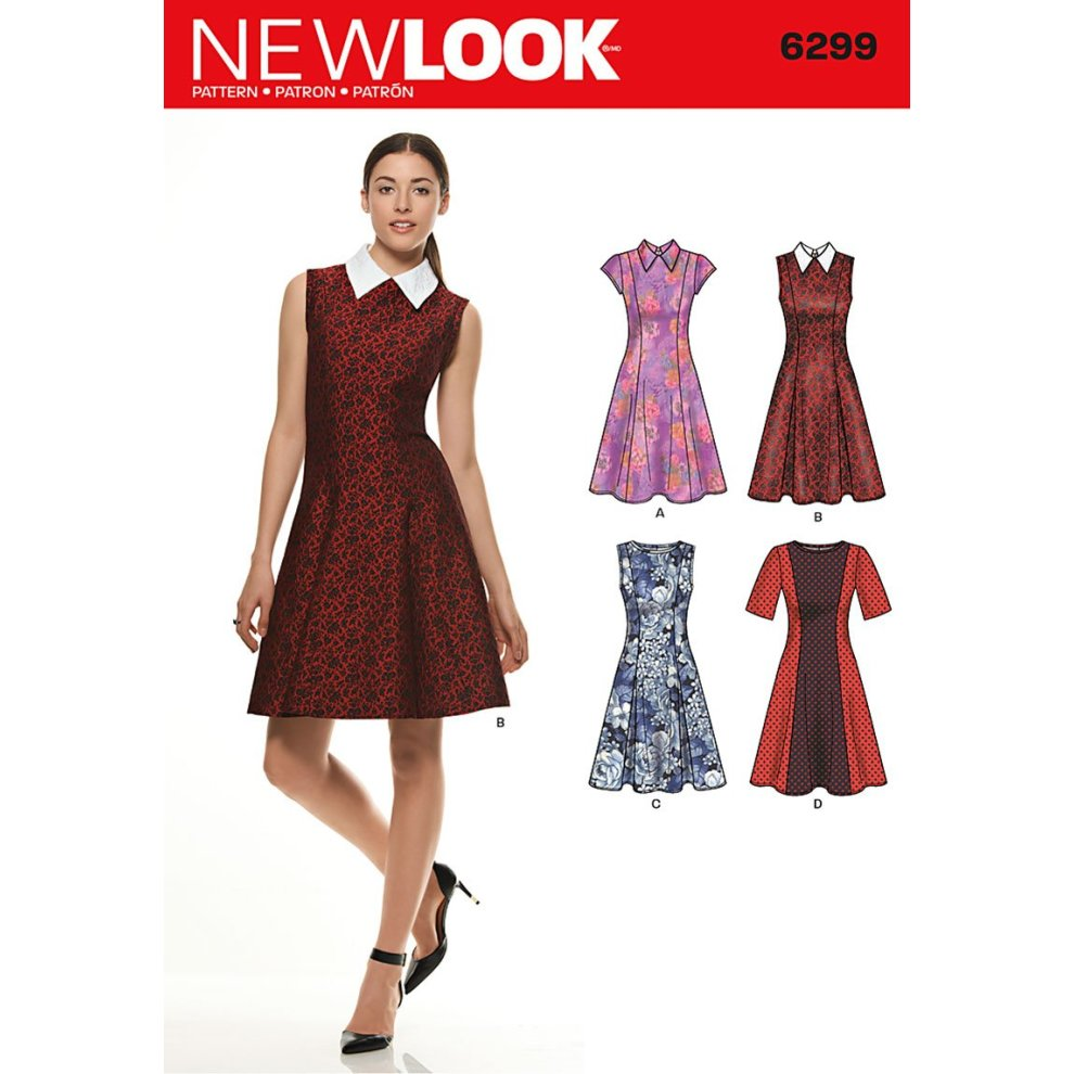 82c23c2df5f2 New Look Size A 8 - 10 - 12 - 14 - 16 - 18 - 20 Sewing Pattern 6299 Misses'  Dresses, Multi-Colour on OnBuy