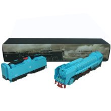 Alloy  Car Model Collection with Light&Sound/ Classical Model Trains, Blue