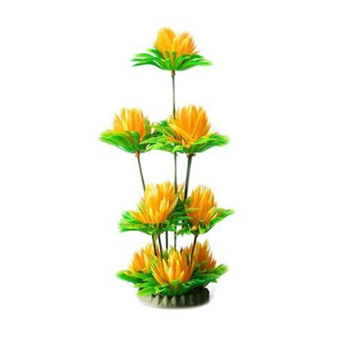 Emulational Plants Aquarium Decor Fish Tank Decoration,Yellow Flower