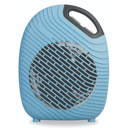 Kingavon 2KW Black & Blue Electric Portable Upright Fan Heater with Thermostat