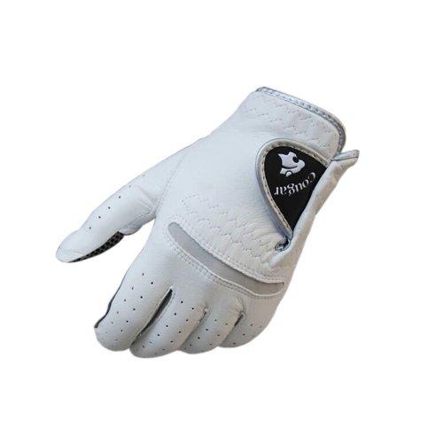 Non-slip Men & Women Golf Gloves Synthetic Leather WHITE Left Hand 26#