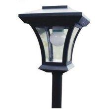 Solar Lamp Post, LED Lights, 1.66m Tall -  solar lamp post led lights 166m tall