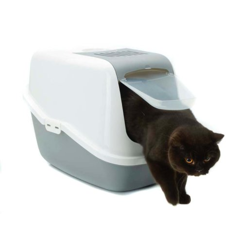 Nestor Cat Toilet White/cold Grey (Pack of 4)