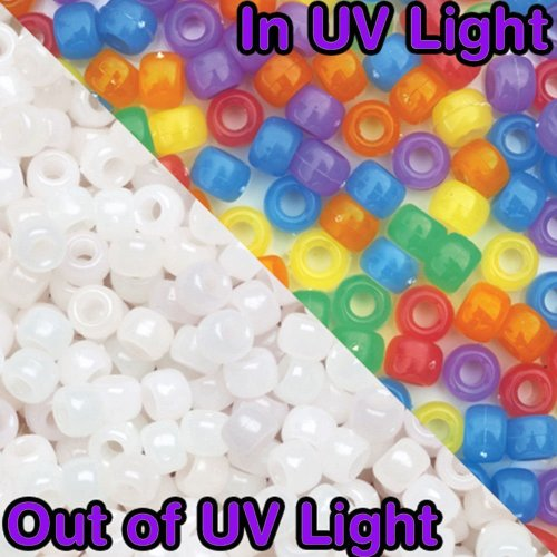 NEW! 110 SolarActive® UV Colour Changing Pony Beads - Multicolour pack - A great visual indicator to the strength of the sun! MADE IN THE USA -...