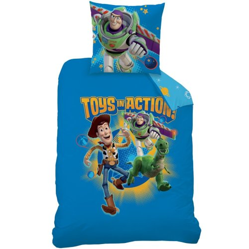 CTI Toy Story Game 042820 Duvet Cover 140 x 200 cm + 1 taie 63 x 63 cm Cotton/Polyester Blue Set of 1