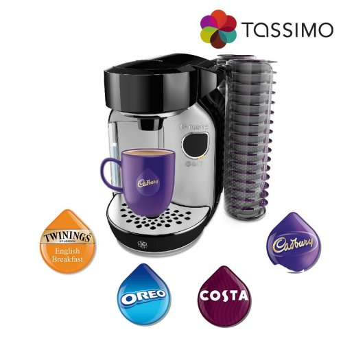 Tassimo TAS75SE2GB Caddy Costa Coffee Hot Drinks Machine 1300W 1.2L Silver Bosch
