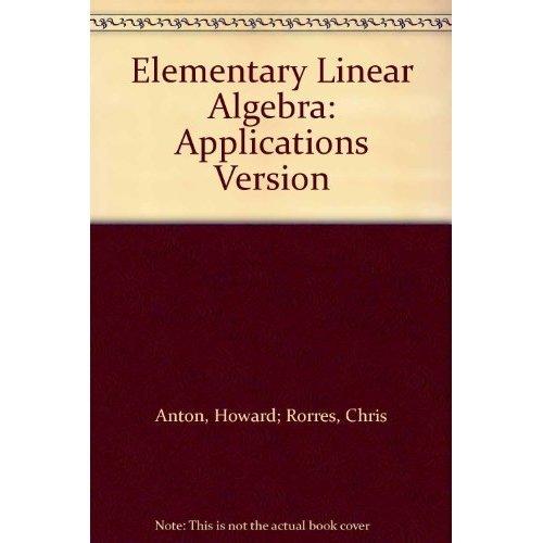 Algebra book linear elementary