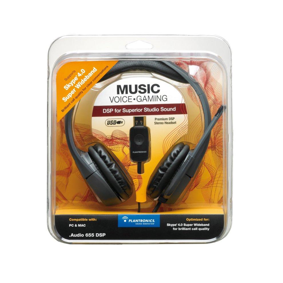 Plantronics  Audio 655 DSP USB Headset with Stowable Microphone Boom