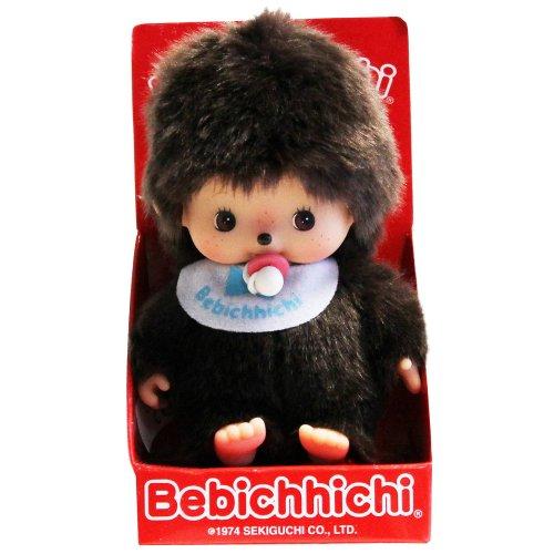 Bandai Monchhichi 23554–Soft Toy–bébichhichi Boys Bib