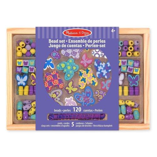 Melissa & Doug Butterfly Friends Wooden Bead Set 150+ Beads
